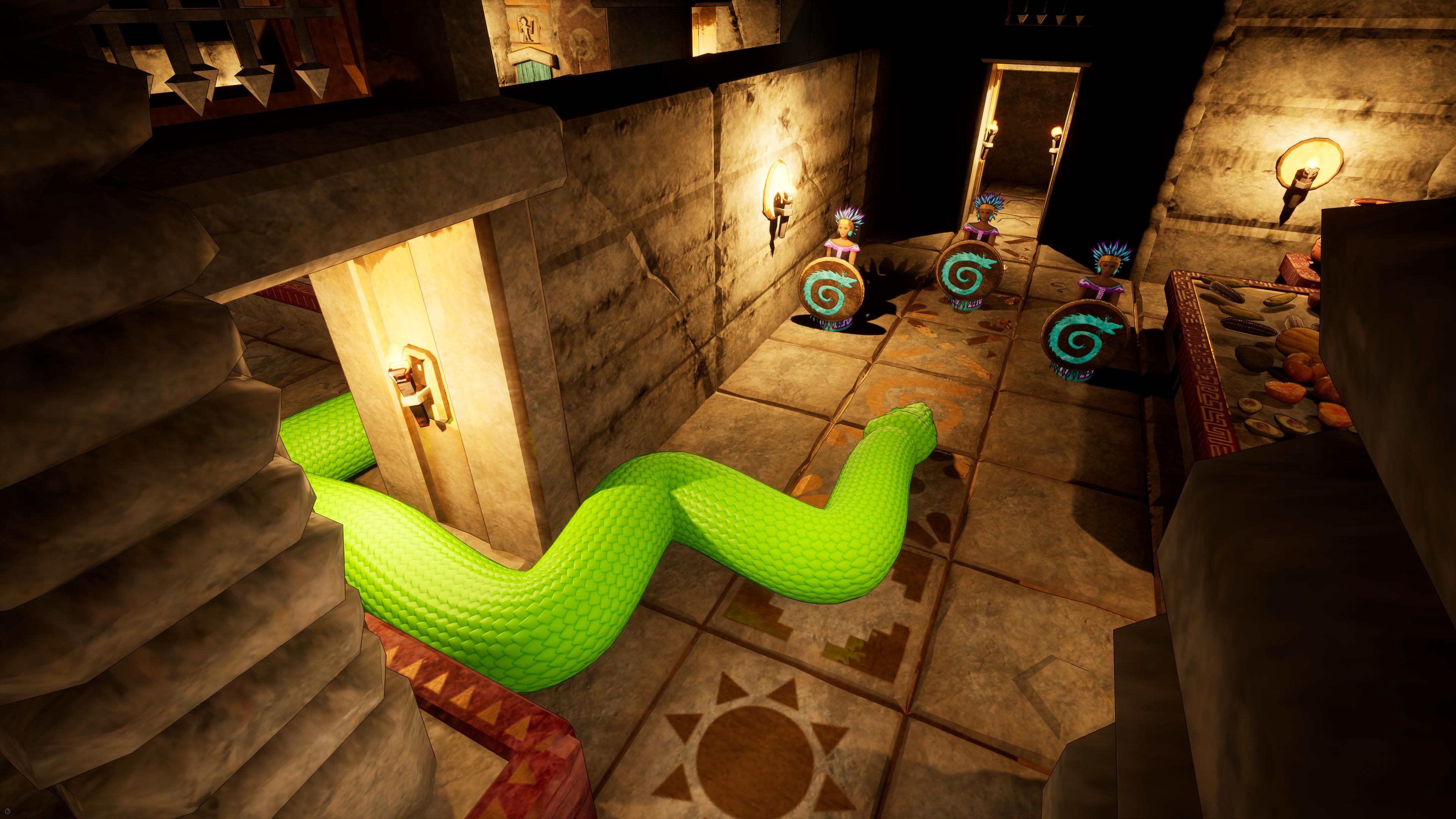 a screenshot of Temple of Snek